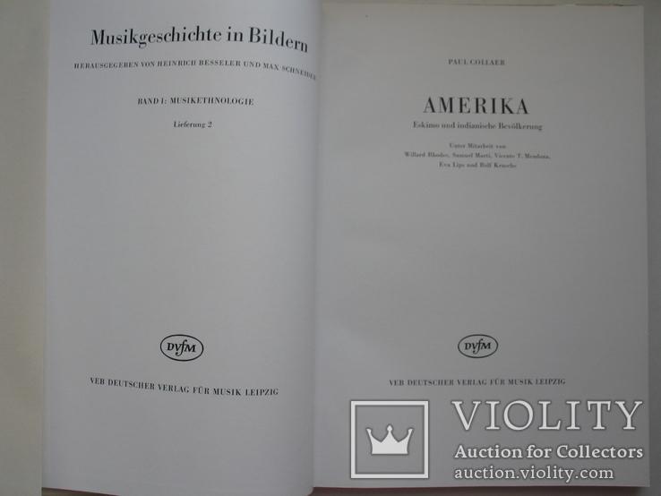 """""""История музыки в картинках . Америка"""" 1967 год (на немецком), фото №4"""