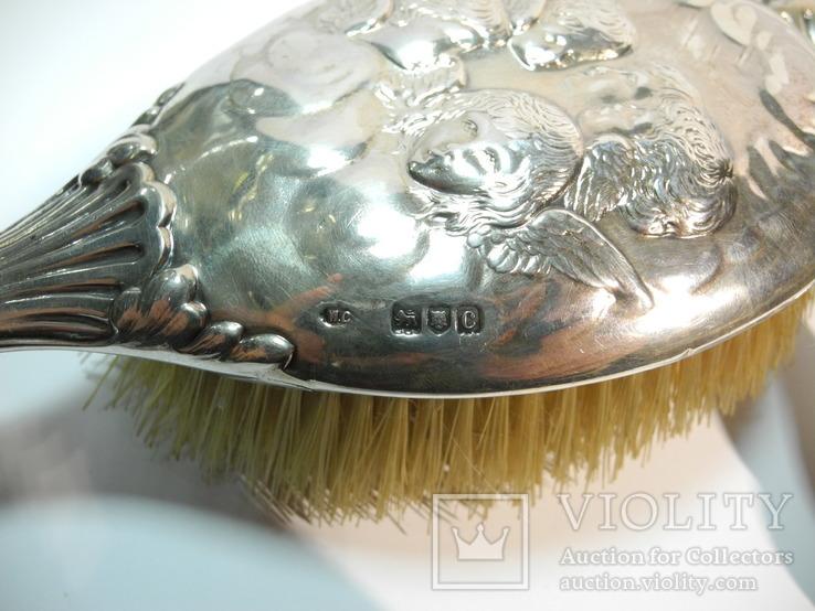 Старинный Дамский Набор Англия ( серебро 925 пр , вес серебра ок 400 гр), фото №9