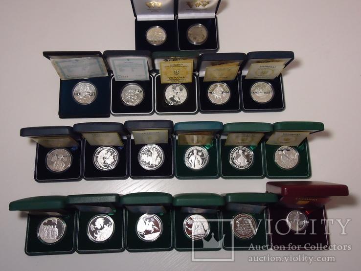 Повна серія срібних монет ''ГероЇ козацької доби'' банк