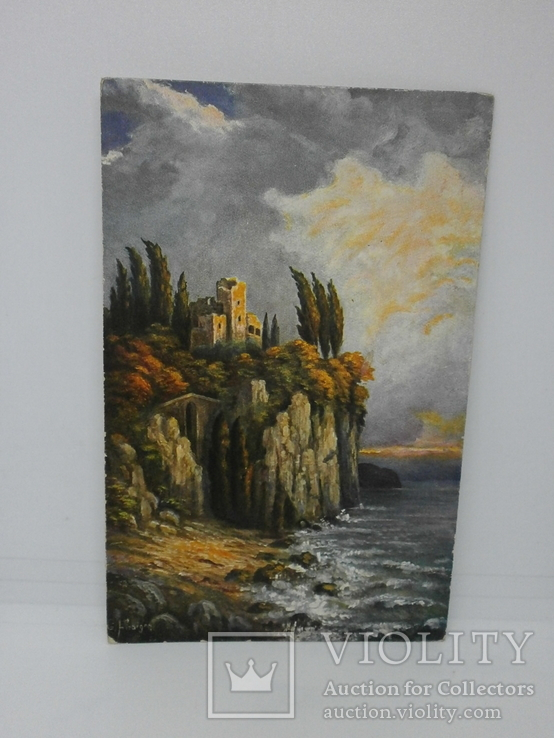 Открытка Руины замка на скале, фото №2