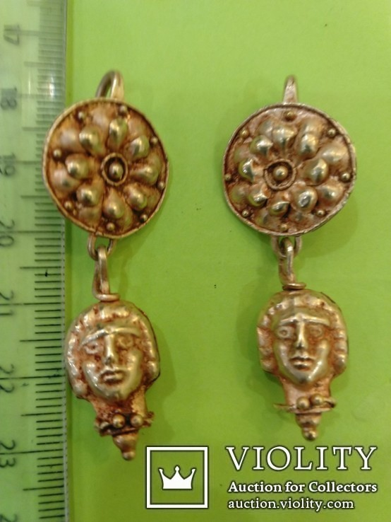 Античные золотые серьги. Вес 9,1гр., фото №3