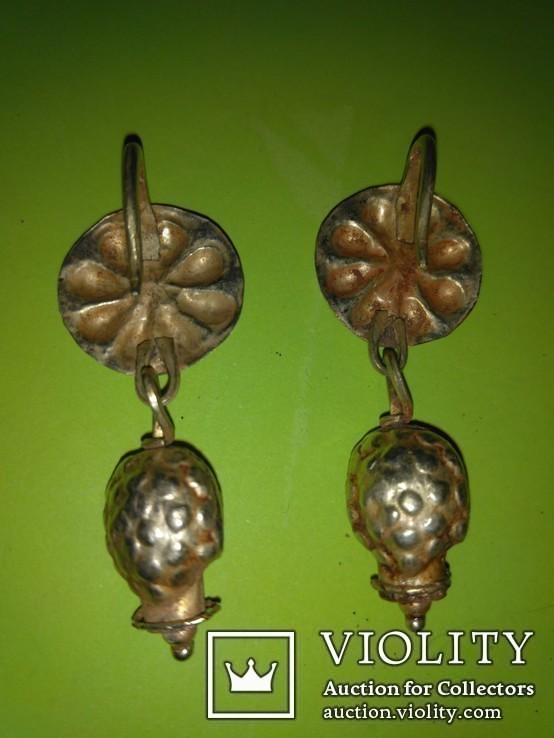 Античные золотые серьги. Вес 9,1гр., фото №5