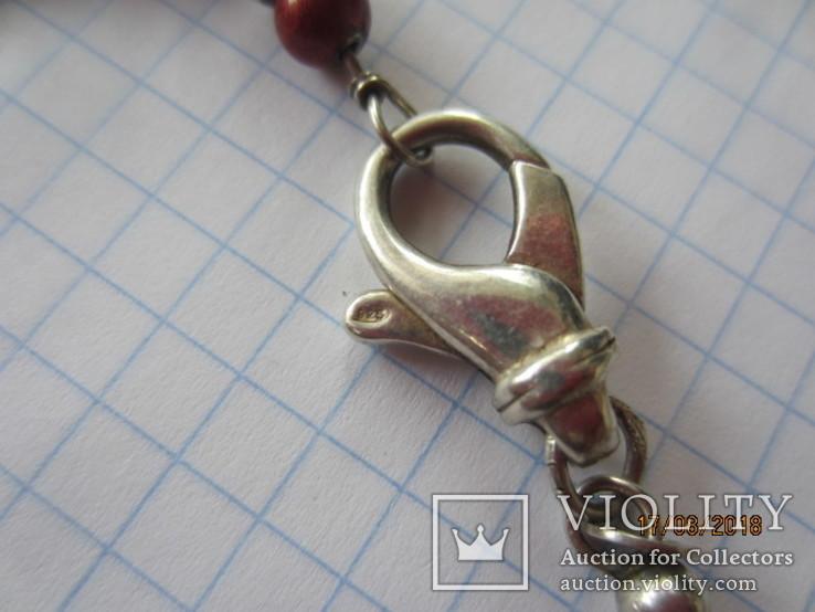 Бусы серебро 925 эмаль (Китайский лак), фото №7