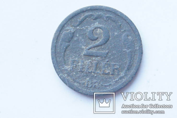 2 філера  1943 р. Угорщина., фото №2
