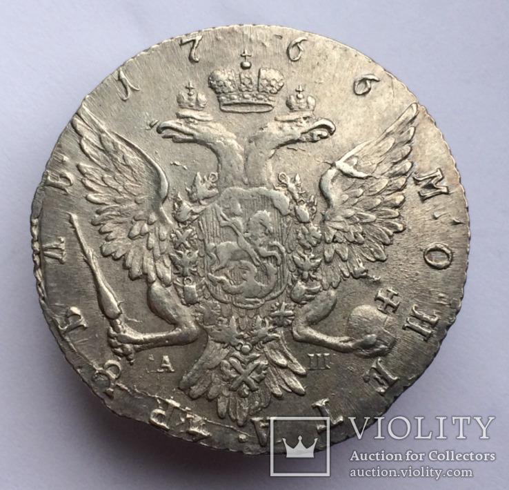 Рубль 1766 года спб-аш