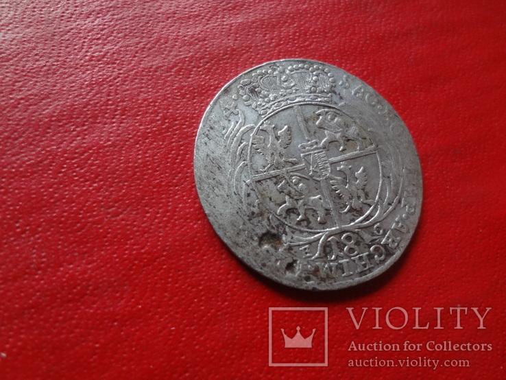 18 грошей 1754 Орт Польша серебро  (4.2.31)~, фото №4