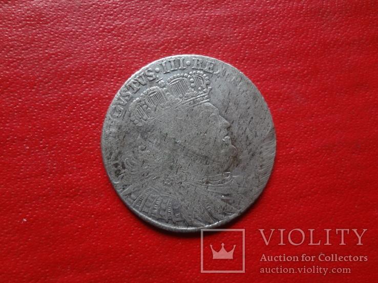 18 грошей 1754 Орт Польша серебро  (4.2.31)~, фото №6
