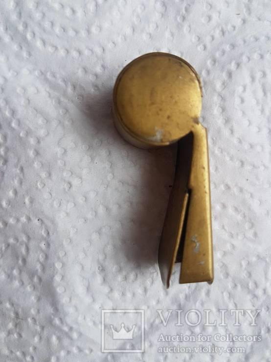 Бронзовый свисток Румыния старый, фото №3