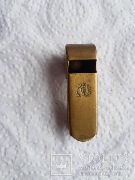 Бронзовый свисток Румыния старый, фото №4