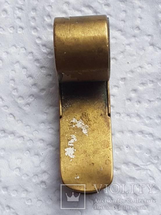 Бронзовый свисток Румыния старый, фото №8
