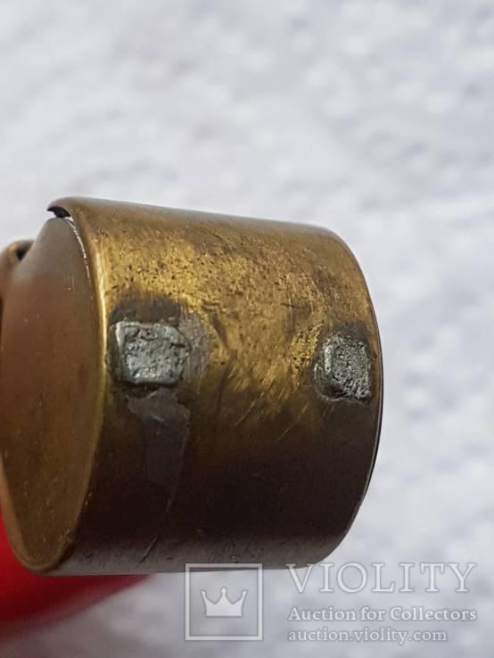 Бронзовый свисток Румыния старый, фото №10