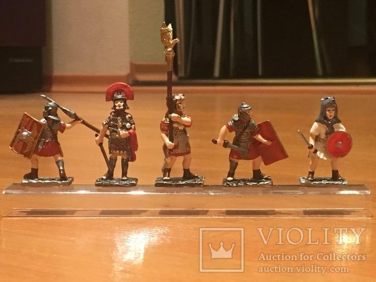 """Фігурки сувенірні із олова """"Римська армія"""" 5 штук."""