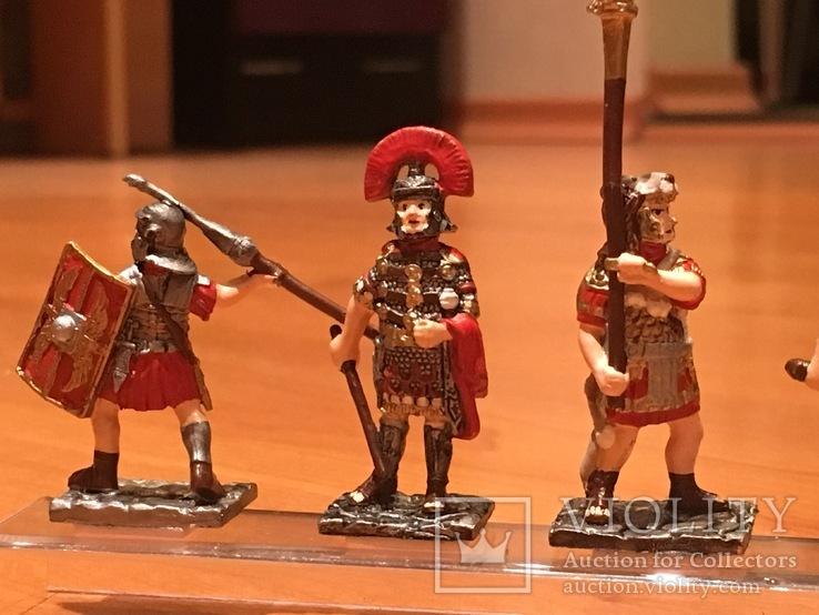 """Фігурки сувенірні із олова """"Римська армія"""" 5 штук., фото №4"""