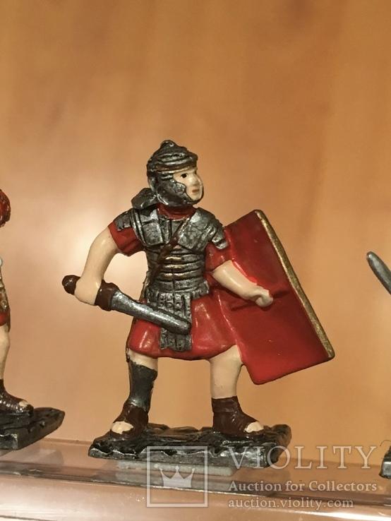 """Фігурки сувенірні із олова """"Римська армія"""" 5 штук., фото №6"""