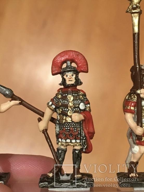 """Фігурки сувенірні із олова """"Римська армія"""" 5 штук., фото №8"""