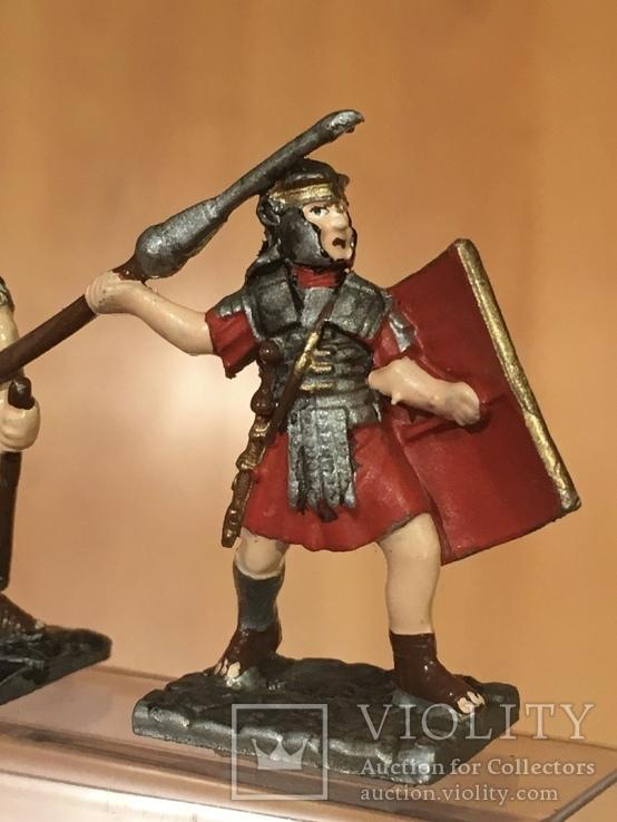"""Фігурки сувенірні із олова """"Римська армія"""" 5 штук., фото №9"""