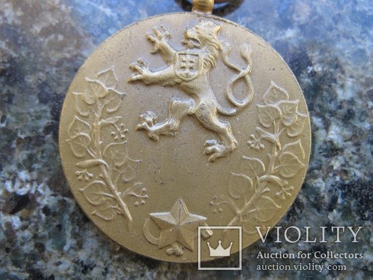 """Чехословакия  ,медаль  """"За  службу  власті"""", фото №3"""