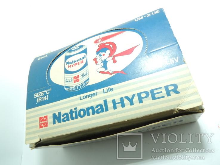 "Картонная коробка от батареек 1989 год National Hyper size ""C"", фото №2"