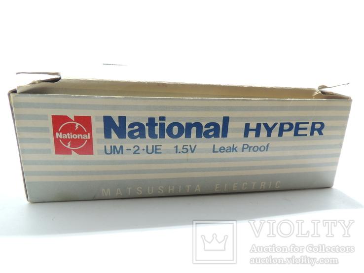 "Картонная коробка от батареек 1989 год National Hyper size ""C"", фото №3"