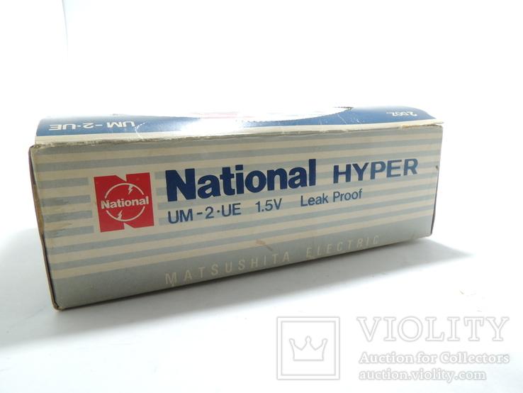 "Картонная коробка от батареек 1989 год National Hyper size ""C"", фото №5"