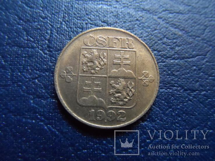 1 крона 1992  Чехия     (Г.17.21)~, фото №3