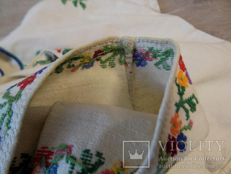 Борщівська вишивка на домотканому дрібним хрестиком зшита вручну, фото №9
