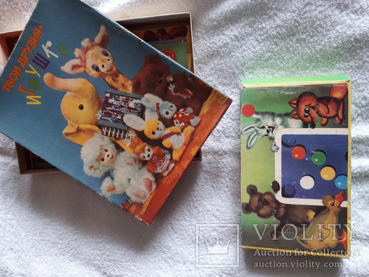 Два набора игр мини бильярд и пазлы СССР, фото №2