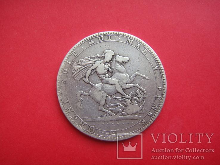 Крона, Англия, Георг III, 1819 г.. серебро, фото №4