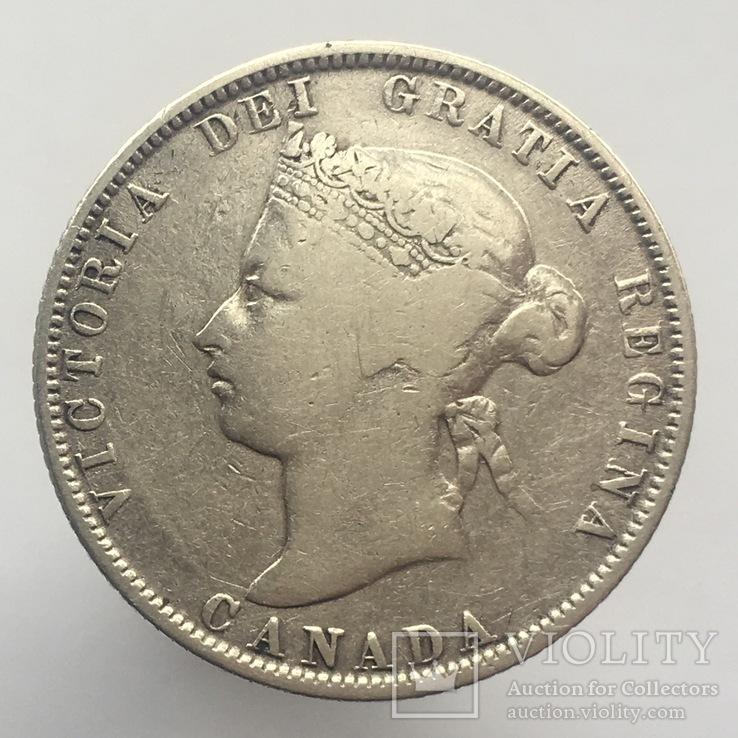 Канада 25 центов (центів) 1874-Н г., фото №2