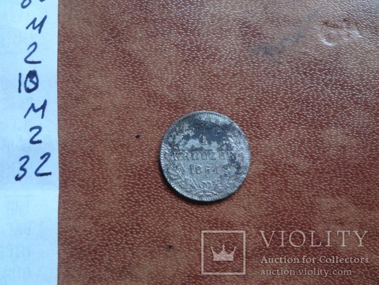 1 крейцер 1861   Бавария  серебро   (М.2.32)~, фото №6