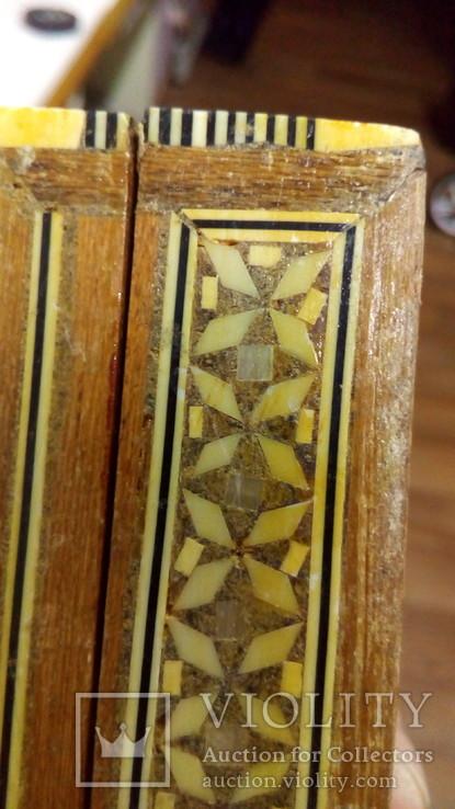 Шкатулка инкрустированная костью и латунью,Иран 60-е гг., фото №5