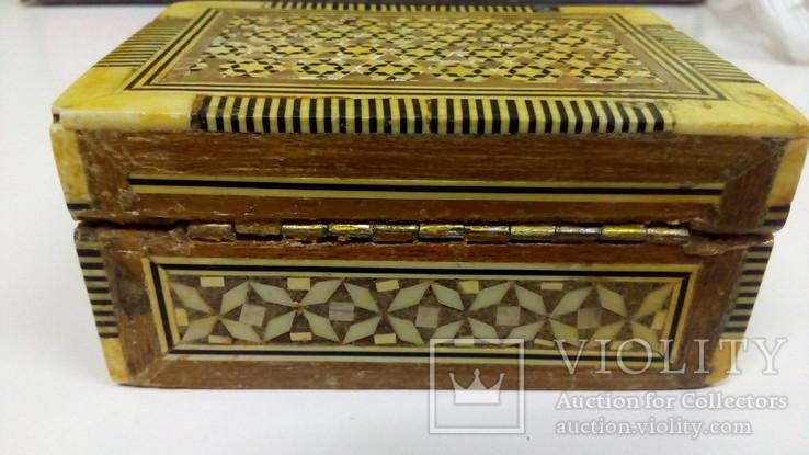 Шкатулка инкрустированная костью и латунью,Иран 60-е гг., фото №11