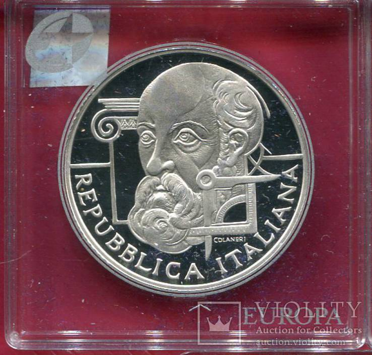 Италия 10 евро 2008 ПРУФ Palladio, фото №2
