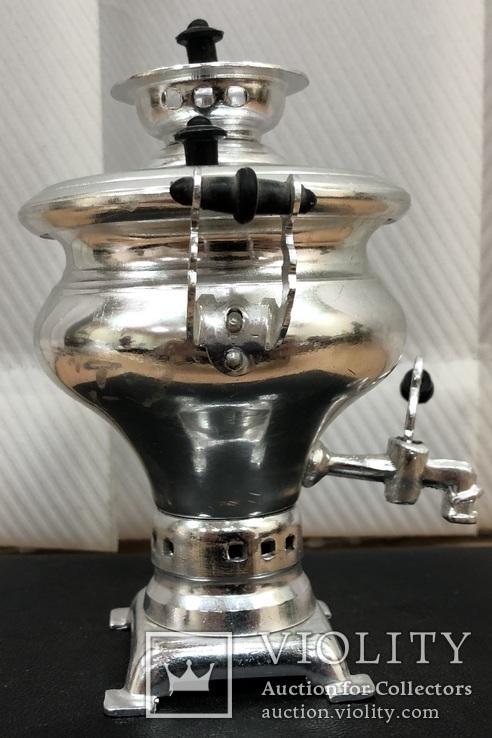 Алюминиевый мини самовар, фото №3