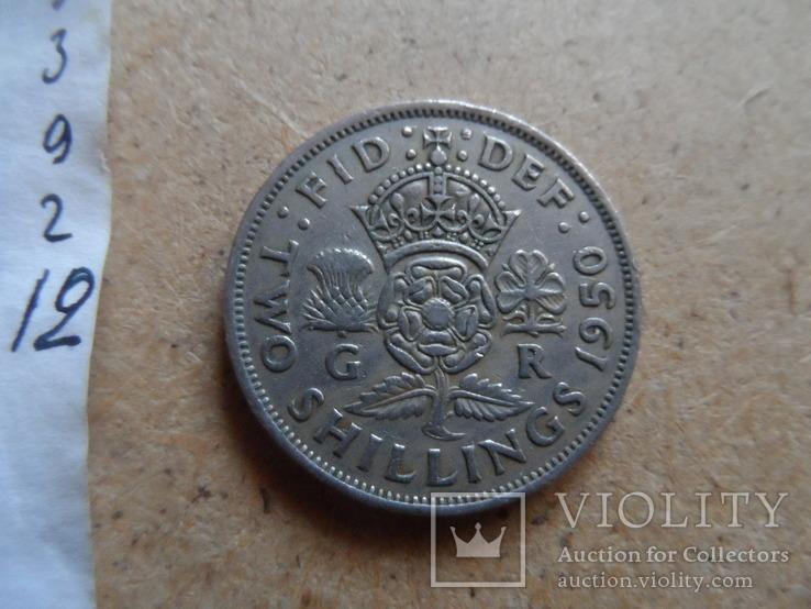 2 шиллинга  1950 Великобритания    (9.2.12)~, фото №4