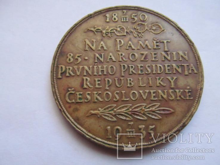 Чехословакия    медаль  Т. Масарык  1935  год, фото №3
