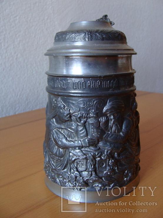 Коллекционный Пивной бокал кружка. Клеймо, фото №4