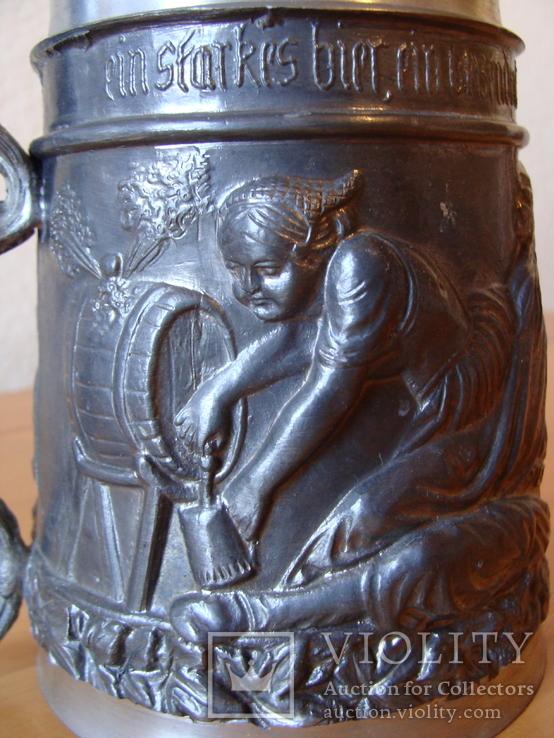 Коллекционный Пивной бокал кружка. Клеймо, фото №7
