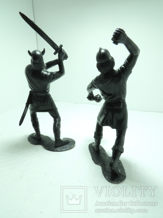 Солдатики солдаты ДЗИ СССР большие пластик 15см Викинги, фото №7