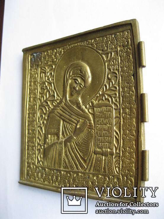 Икона БМ - часть складня - 125х135мм, фото №4