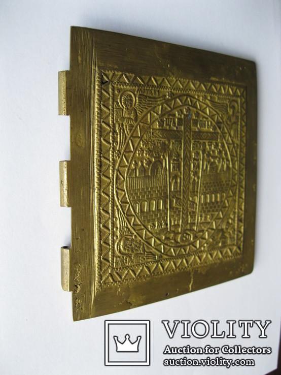 Икона БМ - часть складня - 125х135мм, фото №5