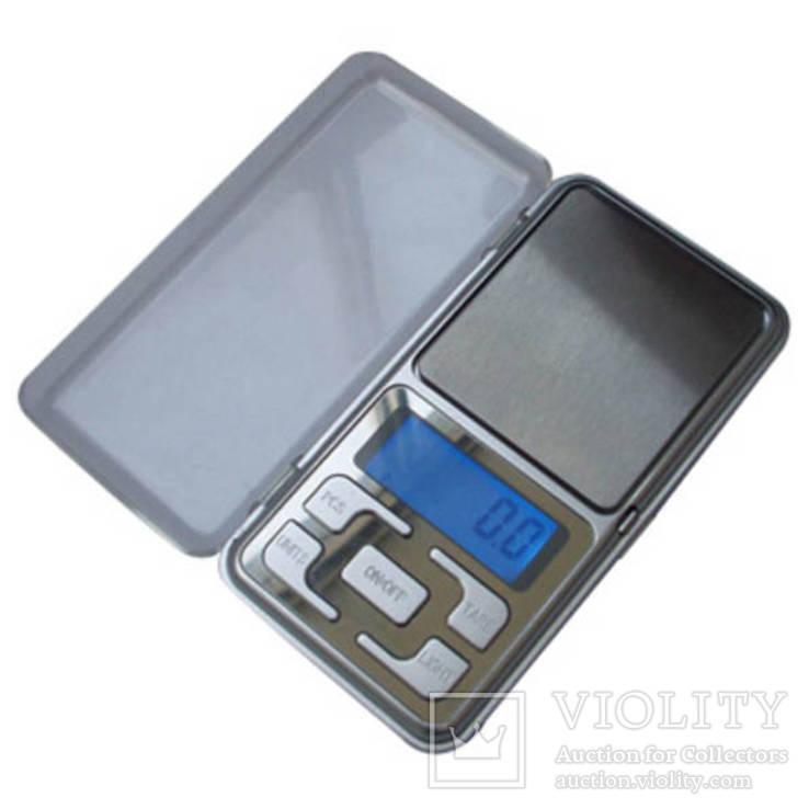 Карманные электронные весы до 500 гр (шаг 0,1гр)