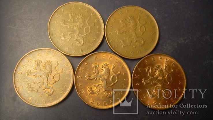 10 крон Чехія (порічниця) 5шт, всі різні, фото №3
