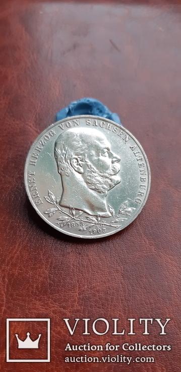 5 марок 1903 р. А Саксен Альтенбург. Юбилейная., фото №7