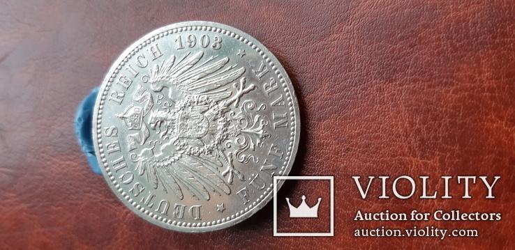 5 марок 1903 р. А Саксен Альтенбург. Юбилейная., фото №9