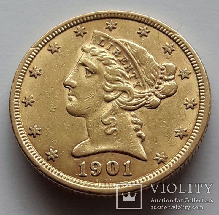 5 долларов 1901 г.