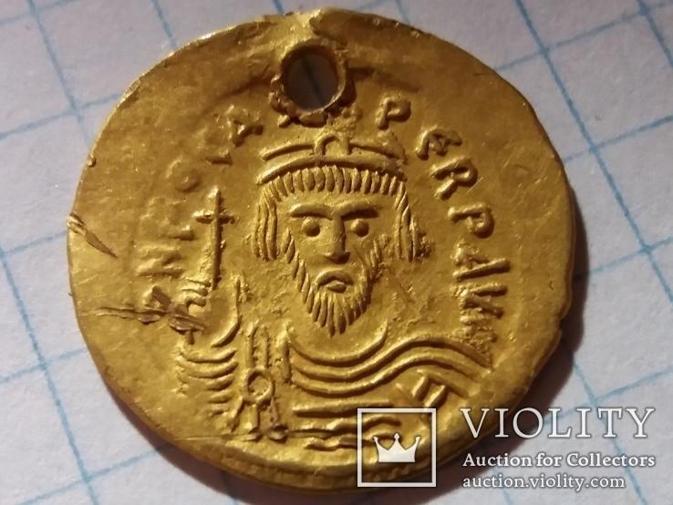 Золотая монета имп.Фоки Византия 600-700гг