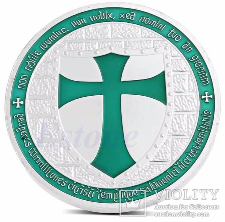 Тамплиеры медаль + подвеска шит масонский крест