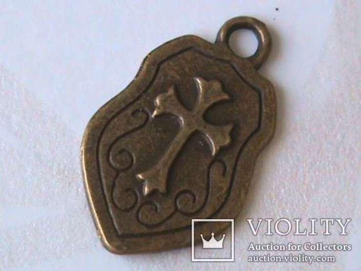Тамплиеры медаль + подвеска шит масонский крест, фото №5