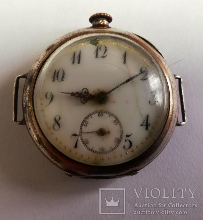 Старинные часы в серебре на восстановление